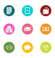 entrepreneurship icons set flat style vector image vector image