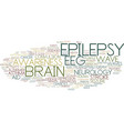epilepsy word cloud concept vector image