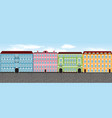 europe city street set 1 multi-colored vector image vector image