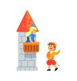 Girl And Boy In Medieval Outfits Playing Parts Of vector image vector image