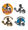 gym or fitness emblem set vector image vector image