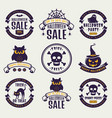 halloween typography badges vector image