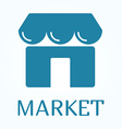 Icon or sign of marketplace in flat style vector image