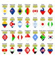 icons of flags vector image vector image