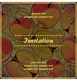 invitation card with apples vector image vector image