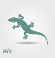 lizard flat monochrome icon with a shadow vector image vector image