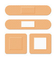 medical patch adhesive bandage set of elastic vector image vector image