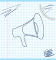 megaphone line sketch icon isolated on white vector image vector image