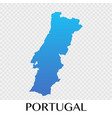 potugal map in europe continent design vector image vector image