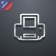 Printing icon symbol 3D style Trendy modern design vector image vector image