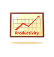productivity graphic card vector image vector image