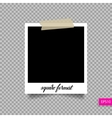 Retro square polaroid photo frame template