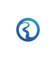 river logo template icon vector image vector image