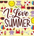 seasonal weather summer vector image