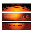 Set of Halloween party banner vector image vector image