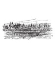 skyline of new york in 1912 vintage vector image