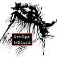 Splatter Paint Texture Grunge background Black vector image vector image