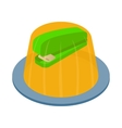 stapler in the jelly icon isometric 3d style vector image