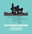 Synchronized Swimming Graphic Symbol vector image