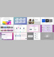 templates for website design minimal vector image vector image