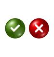 Tick cross signs set vector image