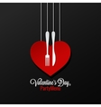 Valentines Day Menu logo design Background vector image vector image