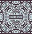 vintage label premium with wallpaper vector image vector image