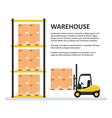 warehouse background template vector image vector image