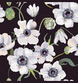 wedding anemones floral pastel realisitic pattern vector image vector image