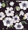 wedding anemones floral pastel realistic pattern vector image vector image