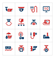 Set color icons of video surveillance vector image