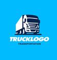 truck logo design vector image