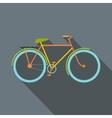 Bicycle flat icon vector image