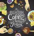 cofee background vector image