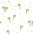 seamless pattern palm tree vector image