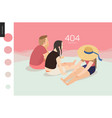 404 error web page template - picnic vector image