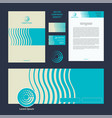 abstract corporate style and template vector image