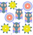 adorable abstract owls vivid seamless pattern it vector image vector image