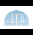 arched window and door vector image vector image