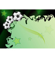 Background with football motif vector image vector image