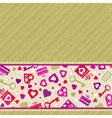 beige valentine background with pink hearts vector image vector image