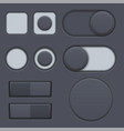 black interface radio buttons toggle switched vector image vector image