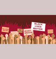 black lives matter protesters march vector image
