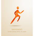 Business concept Abstract human Movement symbol vector image