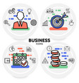 business line icons concept vector image vector image