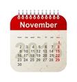 calendar 2015 - november vector image vector image