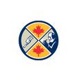 Canada Millwright Caliper Welder Maple Leaf Circle vector image vector image