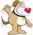 Cartoon Dog Waving vector image vector image
