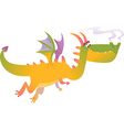 Cartoon dragon fly vector image