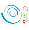 circular design element logo shape 4 different vector image vector image